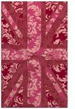 rug #562465 |  pink damask rug
