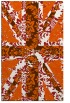 rug #562517    red-orange abstract rug