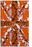 rug #562517 |  red-orange retro rug