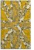 rug #562537 |  yellow damask rug