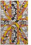 rug #562549    yellow abstract rug