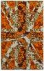 rug #562565    orange retro rug