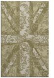 rug #562573 |  light-green damask rug