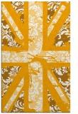 rug #562585 |  light-orange abstract rug