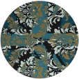 rug #562621 | round mid-brown damask rug