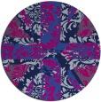 rug #562629 | round pink damask rug
