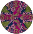 rug #562637   round blue abstract rug
