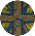 rug #562661 | round green abstract rug