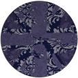 rug #562685 | round blue-violet rug