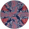 rug #562693 | round pink damask rug