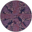 rug #562697 | round purple damask rug