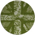 rug #562725 | round green abstract rug