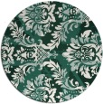 rug #562733 | round green abstract rug