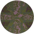 rug #562737 | round green abstract rug