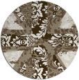 rug #562741   round mid-brown retro rug