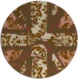 rug #562745 | round brown damask rug