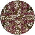 rug #562753 | round mid-brown damask rug