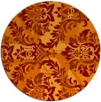 rug #562789 | round orange abstract rug