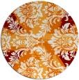 rug #562793 | round orange retro rug