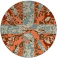 rug #562797 | round orange abstract rug