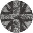 rug #562801 | round orange damask rug
