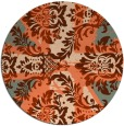 rug #562801 | round orange abstract rug