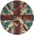 rug #562805 | round yellow damask rug