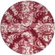 rug #562813 | round pink retro rug