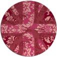 rug #562817 | round pink retro rug