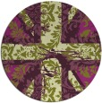 rug #562829 | round green abstract rug