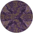 rug #562833 | round mid-brown damask rug