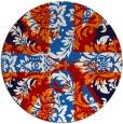 rug #562841 | round red retro rug