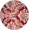rug #562849 | round red damask rug