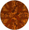 rug #562857 | round red-orange abstract rug