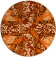 rug #562861 | round damask rug