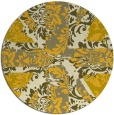 rug #562889 | round yellow abstract rug
