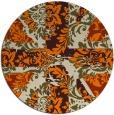 rug #562917 | round orange retro rug