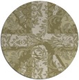 rug #562925 | round light-green abstract rug