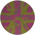 rug #562929   round pink damask rug