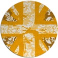 rug #562937 | round light-orange damask rug