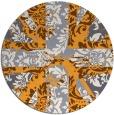 rug #562949   round white damask rug