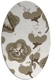 rug #565417 | oval beige natural rug