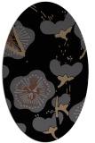 rug #565425 | oval black gradient rug