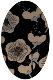 rug #565429 | oval black gradient rug