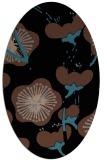 rug #565433 | oval black natural rug
