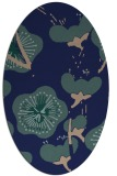 rug #565449 | oval blue-green natural rug