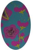 rug #565481 | oval pink gradient rug
