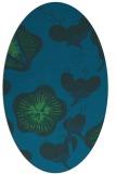 rug #565497 | oval blue gradient rug