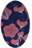 rug #565509 | oval pink gradient rug