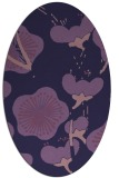 rug #565513 | oval purple gradient rug